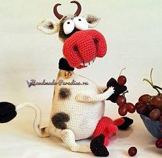 Веселая корова крючком. Амигуруми (3)