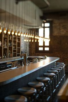 love this lighting idea for above bar RYU Restaurant I New York