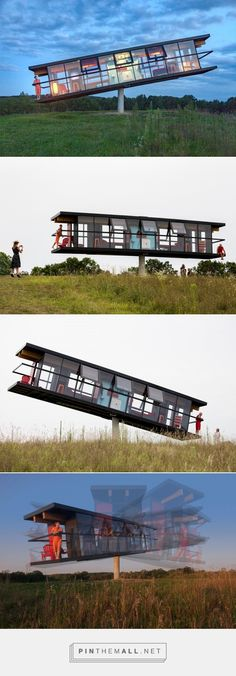 ReActor: a Tilting House That Shifts and Spins Based on its Inhabitants' Movements House Architecture, View Source, Spinning, Art Gallery, Base, Pictures, Home Architecture, Hand Spinning, Photos
