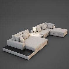Realistic Sofa Model available on Turbo Squid, the world's leading provider of digital models for visualization, films, television, and games.