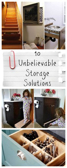 These 10 incredible hidden storage ideas will make you wish you had them in your home. Let these organization solutions inspire your next home project!