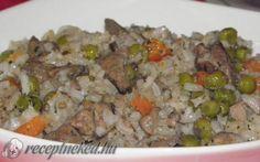 Zöldséges-rizses csirkemáj recept fotóval