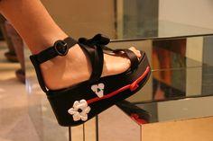 scarpe firmate Prada in stile Geisha
