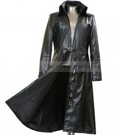 long leather black trench coat - Google Search