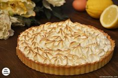 Tarta de limon y merengue New Years Eve 2015, Crazy Cakes, Sweet Pie, New Recipes, Catering, Cheesecake, Deserts, Food And Drink, Sweets