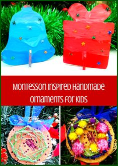 Montessori Nature Montessori Inspired Handmade Ornaments Kids Can Make | Christmas Craft for Kids | #Montessori Art