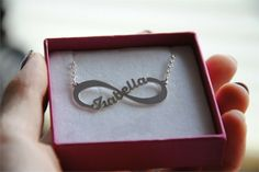 personalized infinity necklace with name. #namenecklace #infinity #jewellry