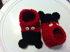 Mickey Mouse Booties Newborn size by Shannanagans13 on Etsy, $5.50