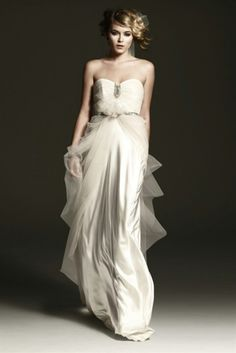 Satin and tulle