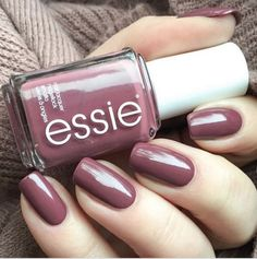 Angora cardi by essie. I'm addicted to colouring my nails so winter gives me the opportunity to wear darker, warmer colours. And Essie colours are my go-to polishes! Essie Nail Colors, Essie Nail Polish, Fall Nail Colors, Nail Polish Colors, Gel Nails, Acrylic Nails, Fall Nail Polish, Nail Polish Trends, Best Nail Polish