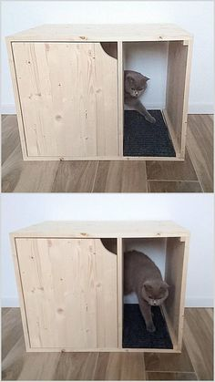 Cat Litter Box Cover Pet Furniture House Modern