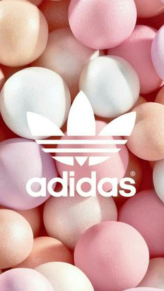 Cute pastel balls adidas background wallpaper