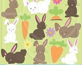 bunny clipart for scrapbooking, commercial use, vector graphics, digital clip art, digital images - PGCLPK507