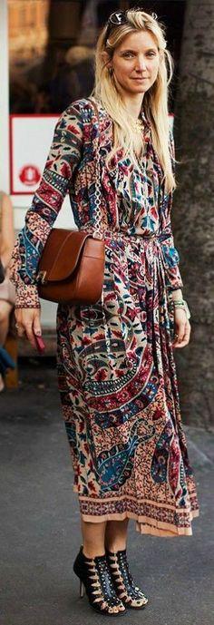 #summer #boho #style #outfitideas |Maxi Boho Dress