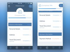 Fast Check-In/out Page by Michela Tannoia