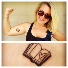 This is a great book tattoo.  I love reading. :).. this would be good for you brynne
