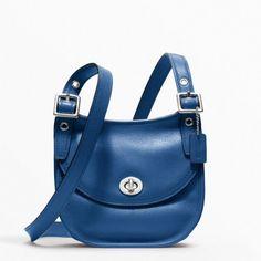 Coach Leather Mini Saddle Bag Cobalt Blue 48038 - http://www.besthandbagsdeals.co/cross-body-bags/coach-leather-mini-saddle-bag-cobalt-blue-48038/ #48038, #Bag, #Blue, #Coach, #Cobalt, #Leather, #Mini, #Saddle