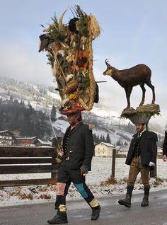 """""""Perchten"""" of Gastein, Austria"""