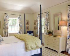 Blue Summer - traditional - bedroom - boston - by Su Casa Designs Bedroom Color Schemes, Bedroom Colors, Bedroom Decor, Bedroom Ideas, Bedroom Photos, Bedroom Curtains, Headboard Ideas, Colour Schemes, Beautiful Curtains