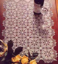 Crochet Table Cloth Blossoms