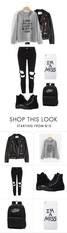 """***"" by t0ri14 on Polyvore featuring Acne Studios, River Island, Converse, Vans and LAUREN MOSHI"