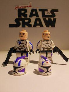 Lego Star Wars minifigures - Clone Custom Troopers Fives & Echo