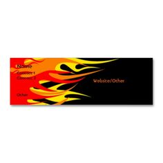 Flames Business Card Template. Make your own business card with this great design. All you need is to add your info to this template. Click the image to try it out!