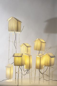 Paper lamps from:  http://papieraetres.com  so cool