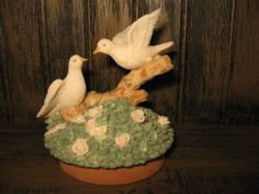 Check out YANKEE CANDLE TOPPER sculpture White DOVES PAIR courting couple Spring #Collectible http://r.ebay.com/wZO2po via @eBay
