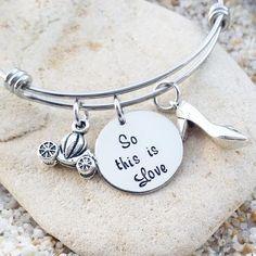Bangle  Bracelet  Disney  Jewelry  Hand Stamped  by KKandWhimsy