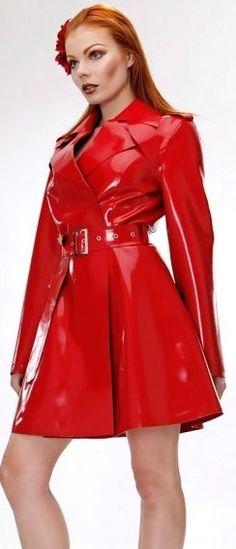 Vinyl Raincoat, Pvc Raincoat, Latex Shorts, Couture Outfits, Latex Fashion, Rain Wear, Timeless Fashion, Hemline, Leather Jacket