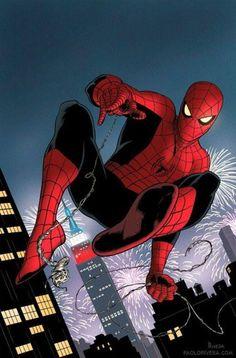 Spiderman by Paolo Rivera Marvel Comics, Comics Spiderman, Spiderman Kunst, All Spiderman, Comics Anime, Hq Marvel, Bd Comics, Amazing Spiderman, Marvel Heroes