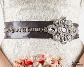 Jeweled wedding sash, can be customized to your wedding colors. Designed by VioGemini.