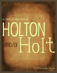 Baby Boy Name(s): Holton and Holt. Meaning: Son of the Forest. Origin: Old Engli - Name Baby Boy - Ideas of Name Baby Boy - Trendy Baby Boy Names, Cool Baby Names, Baby Girl Names, Kid Names, Old Boy Names, Fantasy Names, Blog Names, Baby Blog, Character Names
