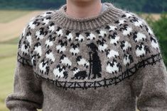 Ravelry: Shiona's Schäfer/Shepherd Pulli pattern by Shiona Rizza Knitting Projects, Knitting Patterns, Knitting Ideas, Fair Isle Knitting, Ravelry, Men Sweater, Fair Isles, Knits, Madness