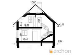 gotowy projekt Dom w rododendronach 11 przekroj budynku