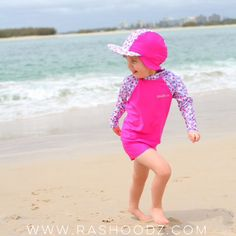 How cute are these pink swimmers and matching swim hat! Available at www. rashoodz.com.au 70e1809011ab