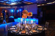 Nice tall centerpieces