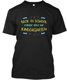 Back To School First Day T Shirt Black T-Shirt Front