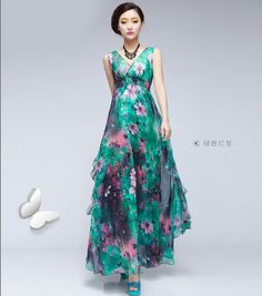 10 Off On Sale Bohemian Boho Green Pink Floral by ChineseHut, $135.00