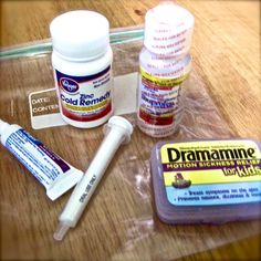 The drugs: missing are melatonin and Benadryl