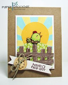 Have a Nice Day card by Heidi Van Laar for Paper Smooches - Well Wishes
