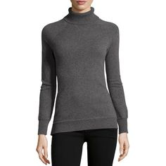 Todd and Duncan Cashmere Ribbed Turtleneck Sweater ($139) ❤ liked on Polyvore featuring tops, sweaters, derby grey, ribbed turtleneck sweater, gray sweater, grey turtleneck sweater, grey turtleneck and cashmere sweater
