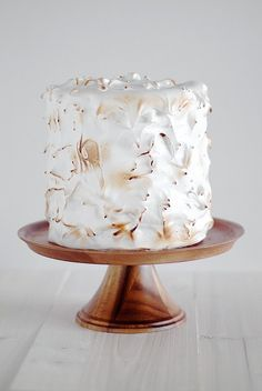 Lemon Layer Cake with Meringue Icing