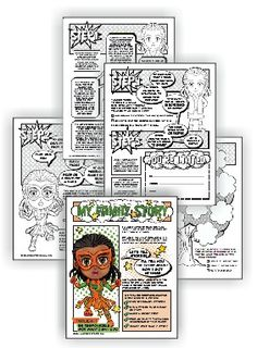 """Can be done in one or two meetings  Perfectfor mixed level Daisy and Brownie troops  Suitable for independent Girl Scouts  Complete this five-page comic download and Brownies have earned their My Family Story badge and Daisies have earned theorange """"Responsible for What I Say and Do"""" petal.…"""