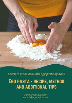 Learn to make fresh egg past at home  Recipe plus full instructions to help you make your own delicious fresh egg pasta. All with detailed images and extra tips to help you. #pasta #recipe #instructions #method #howto #freshpasta #eggpasta #handmade #homemade #food #cooking Egg Pasta Recipe, Pasta Recipes, Make Your Own Pasta, Fresh Egg, Noodle Maker, Recipe Instructions, Fresh Pasta, Shape Design, Home Recipes