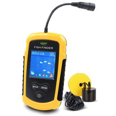 Free Shipping!Hot Sale Alarm 100M Portable Sonar LCD Fish Finders Fishing lure Echo Sounder Fishing Finder FFC1108-1