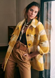 Sézane - Alda Coat Transport Routier, Union Made, Lookbook, New T, Parisian Style, Autumn Winter Fashion, Winter Style, Fall Winter, Shirt Jacket