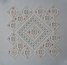 Hardanger Embroidery Hi everyone! Sorry about the long pause in reporting on this project. I actually finished it almost two months ago, have since exhibited. Hardanger Embroidery, Embroidery Stitches, Embroidery Patterns, Hand Embroidery, Cross Stitch Patterns, Cross Stitches, Floral Embroidery, Types Of Embroidery, Learn Embroidery