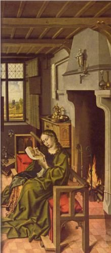 Robert Campin (1378-1445) Robert Campin, Saint Barbara, Renaissance Fashion, Art Database, Medieval Art, 14th Century, Learn To Paint, Middle Ages, Art Boards